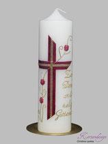 Kerze zum Dank an die heilige Gottesmutter
