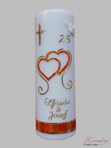 Kerze zur Silberhochzeit