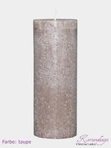 Rustik Kerze Farbe Taupe 30/10cm