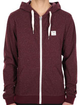 Iriedaily On Point Zip Hoodie maroon mel.