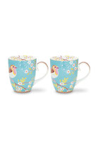 2er Set Early Bird Mug large blue 350ml
