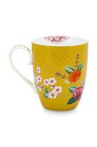 Mug Large Blushing Birds Yellow 350 ml