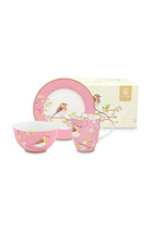 Breakfast Set Early Bird pink ( 3 Teile )