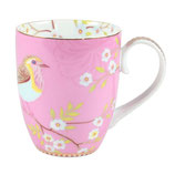 Early Bird Mug large pink 350ml