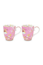 2er Set Early Bird Mug large rosa ( 350ml )