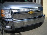 Stainless Steel 2007 08 09 10 Chevy Silverado 2500 3500 SS Grille inserts