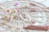 Set Hals-& Armkette rosa Aventurin mit Quaste rosa