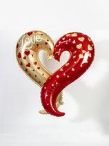 Love Herz Gold/Rot