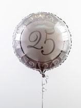 Silberhochzeit Folienballon