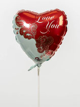 Herz Love You Folienballon