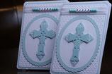 Einladungskarte Taufe Kreuz Personalisiert