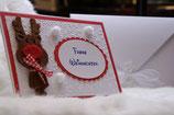 Weihnachtskarte Rentier klein