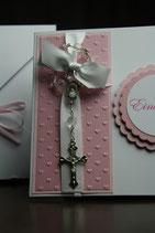 Einladungskarte Mädchen Rosenkranz