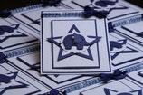 Einladungskarte Taufe Stern mit Elefant