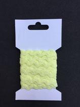 Zigzagband 5mm- licht geel