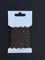 Zigzagband 5mm- bruin