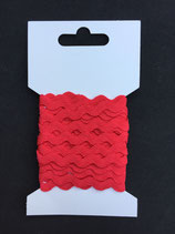 Zigzagband 5mm- rood