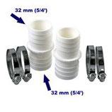 Schlauchverbinder (2er Pack mit 4 VA Schellen)