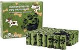 Biologisch abbaubare Hundekotbeutel, 600 Stück, mit Beutelspender und Leinenclip