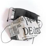 """Mund- und Nasenbedeckung """"Nasenschlüppi"""" (Zeitung)"""