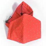 """Mund- und Nasenbedeckung """"Nasenschlüppi"""" (rot, weiße Punkte klein)"""