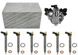 Einspritzdüse 6x Injektor + Hochdruckpumpe 059130277CC 0445116040