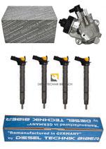 Hochdruckpumpe + 4x Injektor 0445010507 03L130755