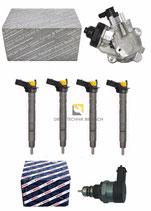 Einspritzdüse Injektor 4x + Pumpe  03L130277C 03L130755J + Druckregelventil