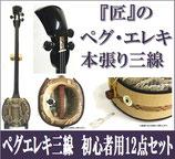 ペグ・エレキ三線 本張り  集音マイク内蔵型