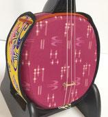 デザイン三線 首里織:ピンク
