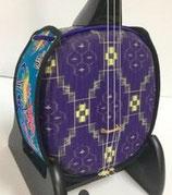 デザイン三線 琉球絣:紫