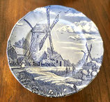 blauw bord - Myott Meakin - Staffordshire