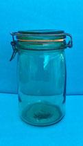 Voorraadpotten van groen glas