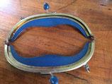 sluiting voor buideltasje, blauw
