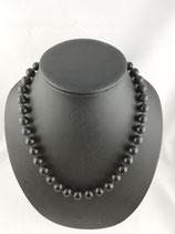 Onyx (Chalcedon)-Halskette.