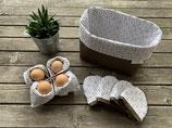 Frühstücksset *Orient* 6-teilig in weiß/olive