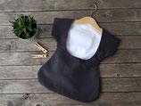 Klammerkleidchen schwarz weiß mit Pünktchen