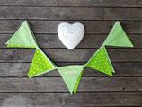 Wimpelkette grün-weiß