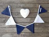Wimpelkette maritim blau weiß