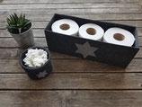 Toilettenpapieraufbewahrung/ Utensilo fürs Bad mit Stern