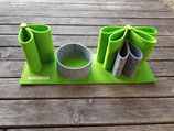 Schreibtisch-Organizer aus Filz apfelgrün/grau meliert