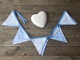 Wimpelkette blau-weiß Sterne