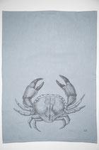 17;30 Geschirrtuch Halbleinen Krabbe