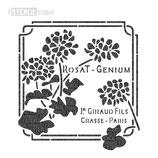 """Schablone """"Rosat Geranium"""""""