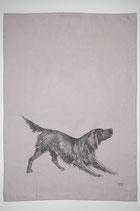 17;30 Geschirrtuch Halbleinen Hund