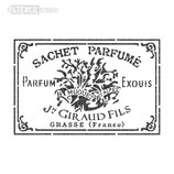 "Schablone ""Sachet Parfume"""