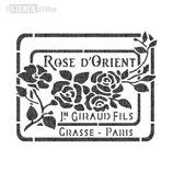 "Schablone ""Rose D´Orient"""