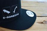 SKATE-BOARDING BLACK/silver