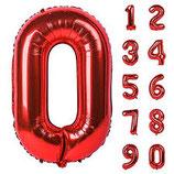 Ballon en forme de chiffre Rouge