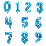 Ballon en forme de chiffre Bleu